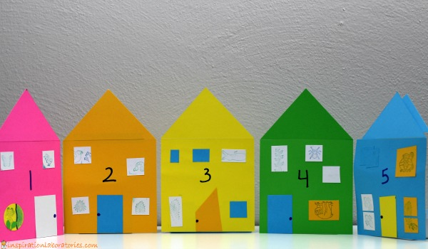Paper number houses