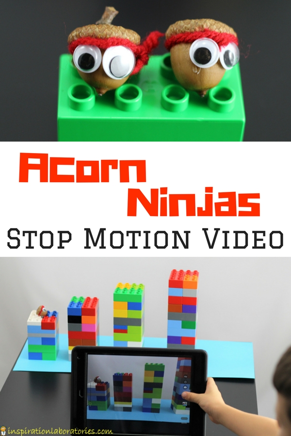 Make an adorable Acorn Ninjas Craft and use them for a fun stop motion video.