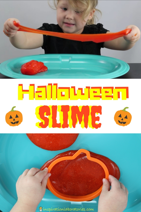 Learn how to make a super simple Halloween Slime recipe. It's easy to make individual batches that are perfect for Halloween parties.