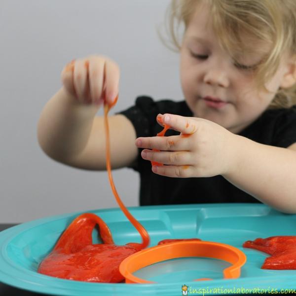 super simple Halloween slime recipe