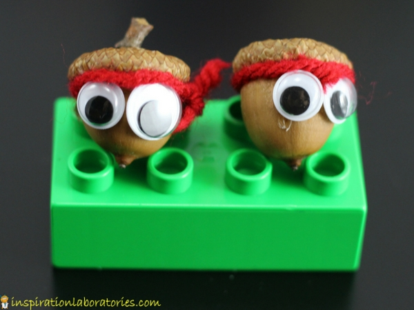 Acorn ninjas craft - just add googly eyes and yarn!