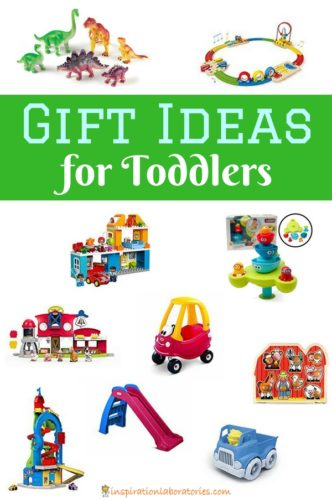 Our 2017 toddler gift guide has my kids' favorite gift ideas for toddlers. Toys that they will play with as they grow.