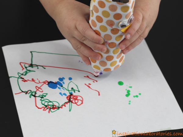 Make a turkey scribble bot with an electric toothbrush motor.