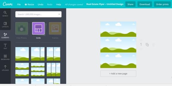 Canva grid invitation template