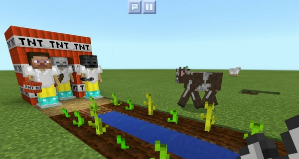 Minecraft screenshot edited