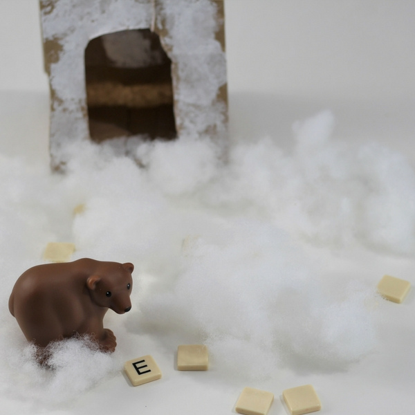 Bear Cave Alphabet Game inspired by Karma Wilson's Bear Snores On - Help bear search for the letters under the snow.