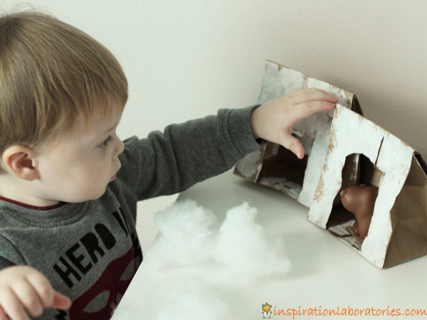 Make paper bag bear caves and play pretend.