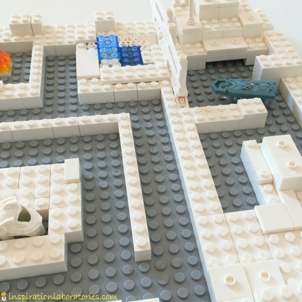 Challenge your child to build a LEGO maze for a hexbug.