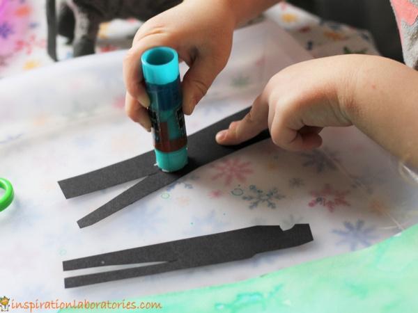 glue stick on paper