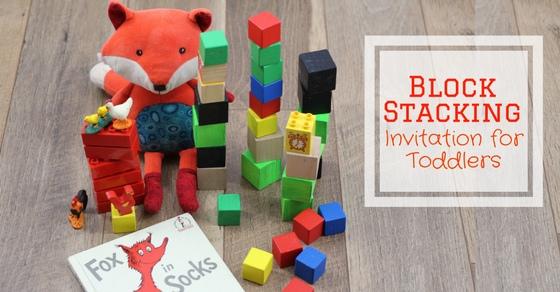 Fox in Socks Block Stacking Invitation for Toddlers ...