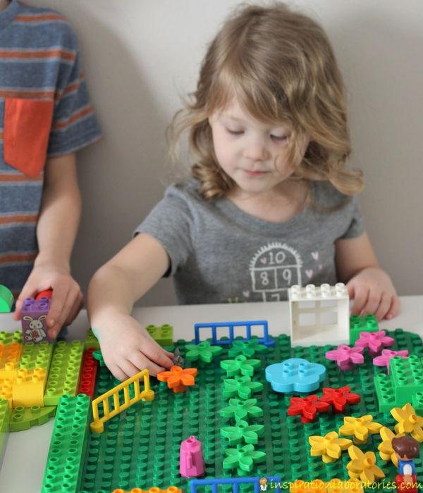 Lego Duplo Girl And Alphabet Cat