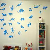 Aiden's Room: Wall Decals and Bookcase