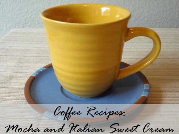 Coffee with Italian Sweet Cream or