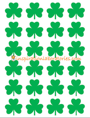 image regarding Printable Shamrocks referred to as St. Patricks Working day Math: Graphing Shamrocks Drive