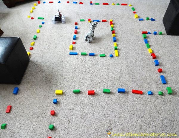 Counting with a Block Maze and Remote Control Car | Inspiration Laboratories
