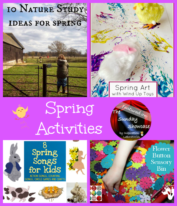 Featured 5 Spring Projects: The Sunday Showcase - Spring Activities
