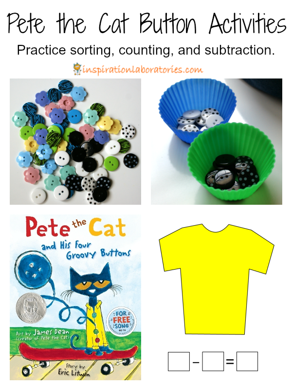 Pete the Cat Button Activities | Inspiration Laboratories