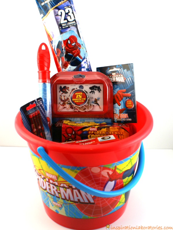 Spider man easter basket inspiration laboratories spider man easter basket negle Image collections