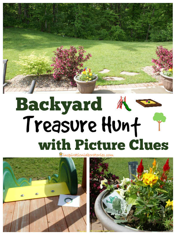 Backyard Treasure Hunt with Picture Clues   Inspiration ...