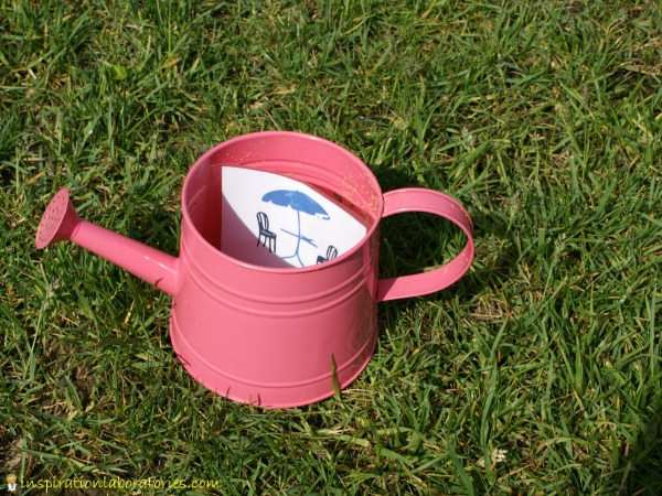 clue in watering can