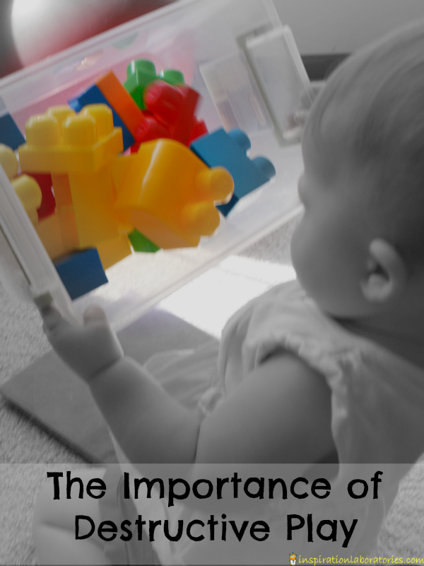 Destructive play is a good thing for babies and toddlers