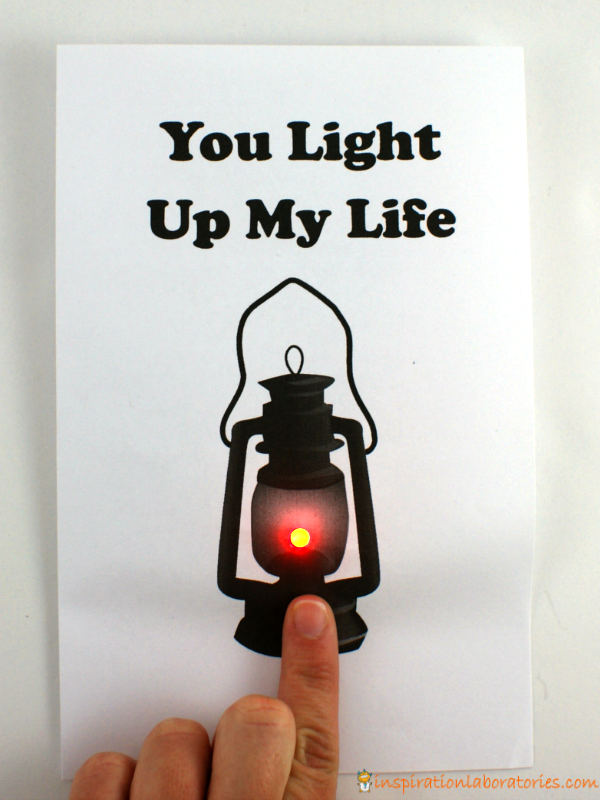 Push On Light Up Card