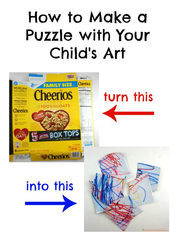 how to make a puzzle with your child s art inspiration laboratories