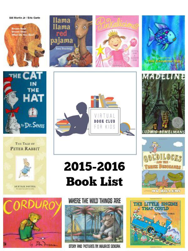 virtual book club for kids 2015 2016 book list inspiration