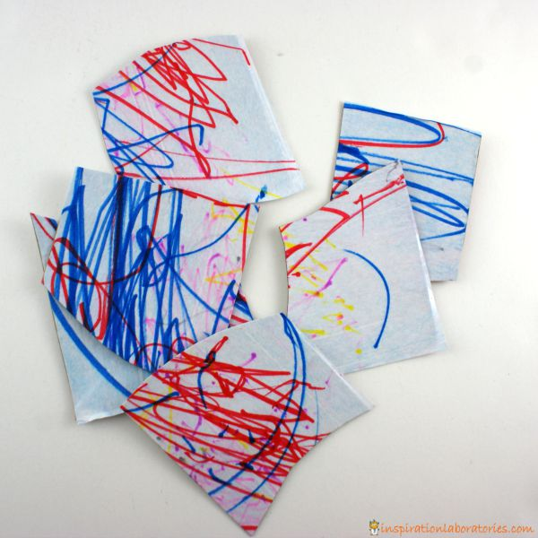 Scribble Drawing Crossword Clue : How to make a puzzle with your child s art inspiration