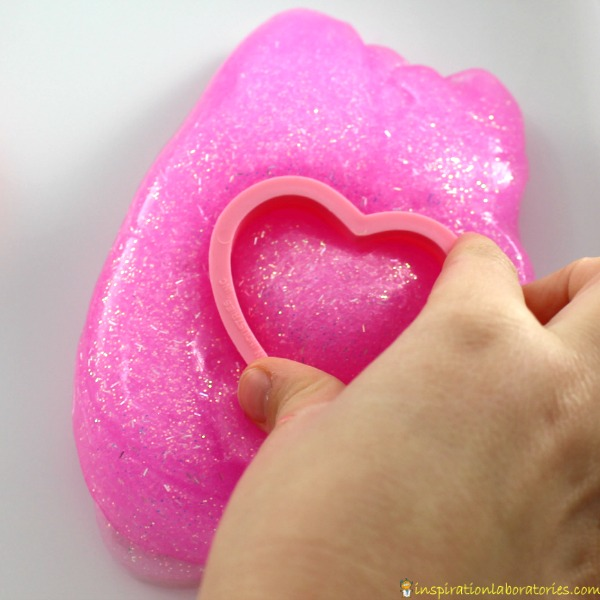 2 Ingredient Glitter Slime for Valentine's Day | Inspiration