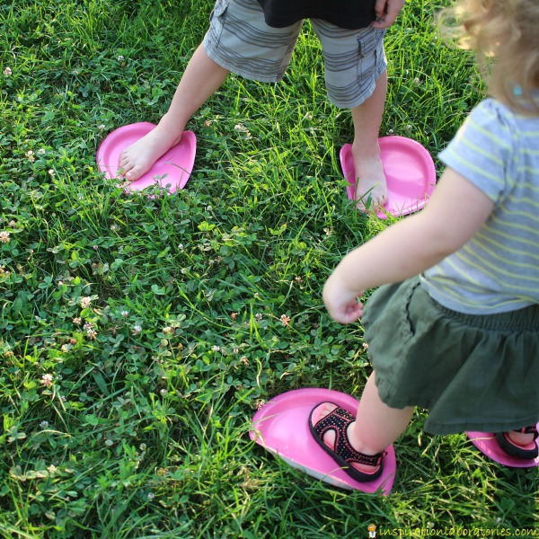 Use paper plates as stepping stones for a fun race.   Inspiration ...