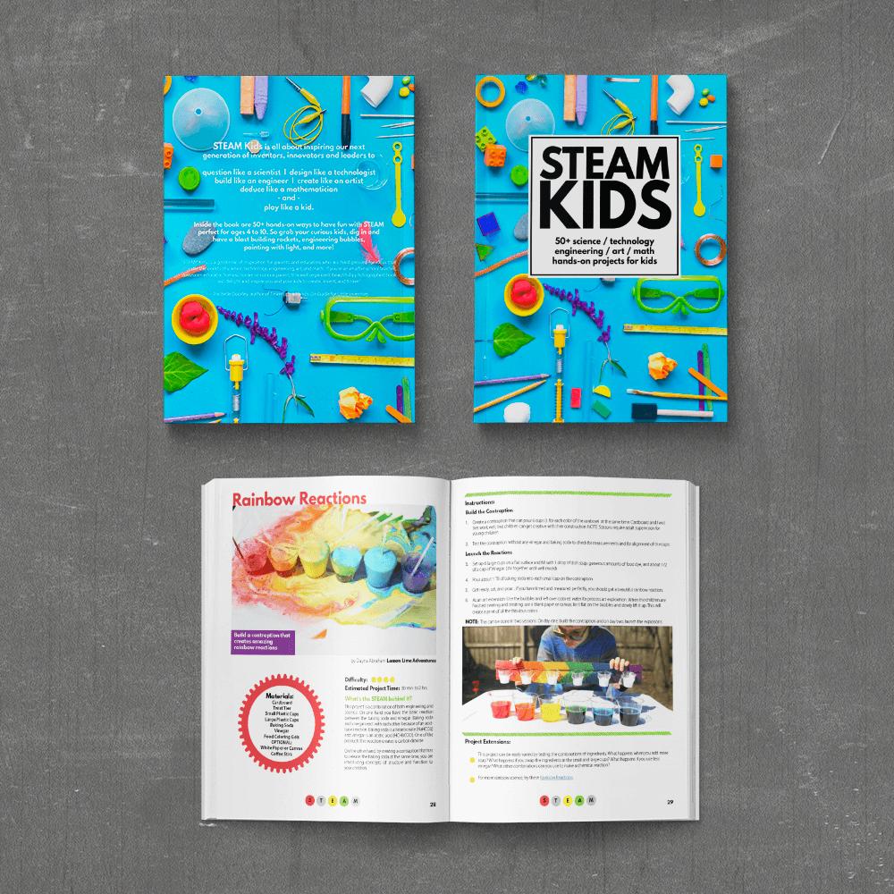 Steam kids 50 steam activities featuring science for Children s craft books
