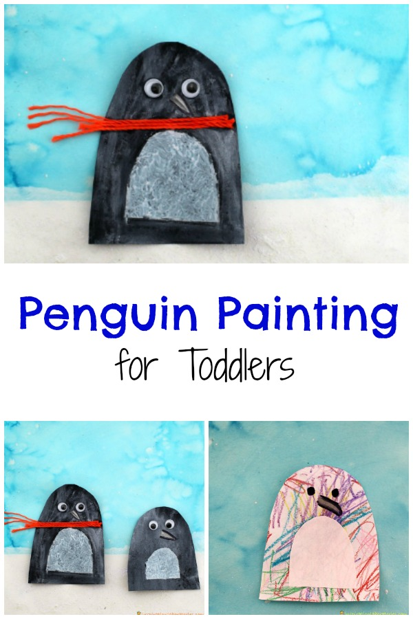 penguin painting for toddlers