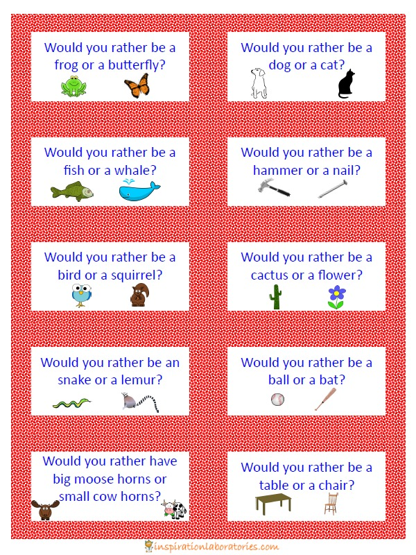 Dr Seuss Inspired Would You Rather Game Inspiration