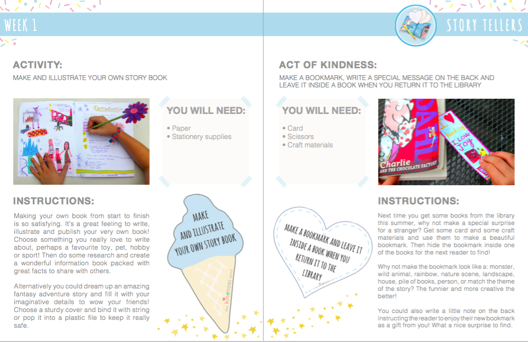 Camp Kindness kindness themed fun filled activity planner