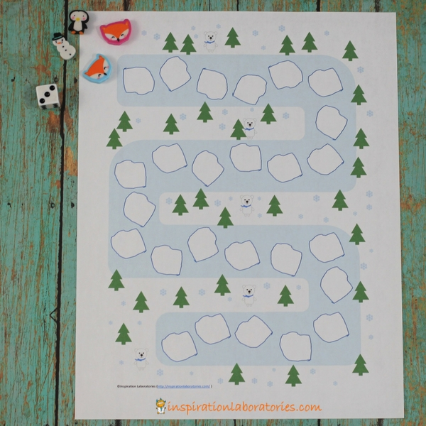 picture relating to Printable Game Board named Printable Wintertime Math Video game Board Determination Laboratories