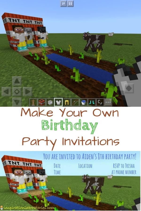 DIY Video Game Birthday Invitations