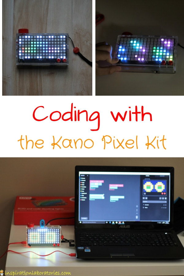 Use the Kano Pixel Kit to code with lights  Program games and