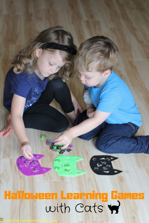 halloween preschool learning games with cats