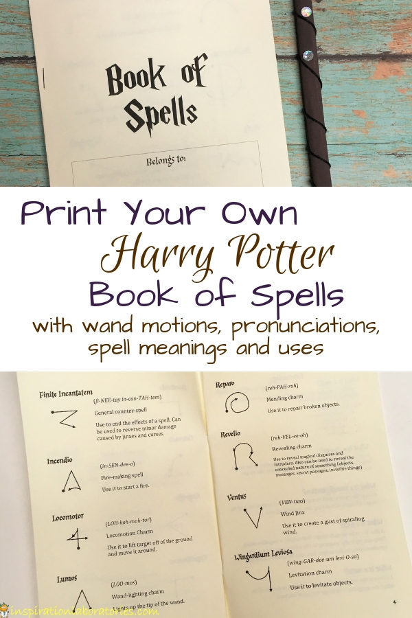 picture regarding Printable Harry Potter Spells identified as Do-it-yourself Harry Potter E-book of Spells Determination Laboratories