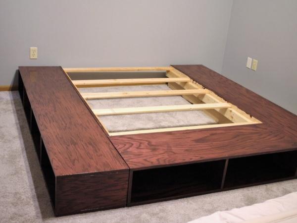 Make Your Own Platform Bed With Storage, Make Platform Bed With Storage