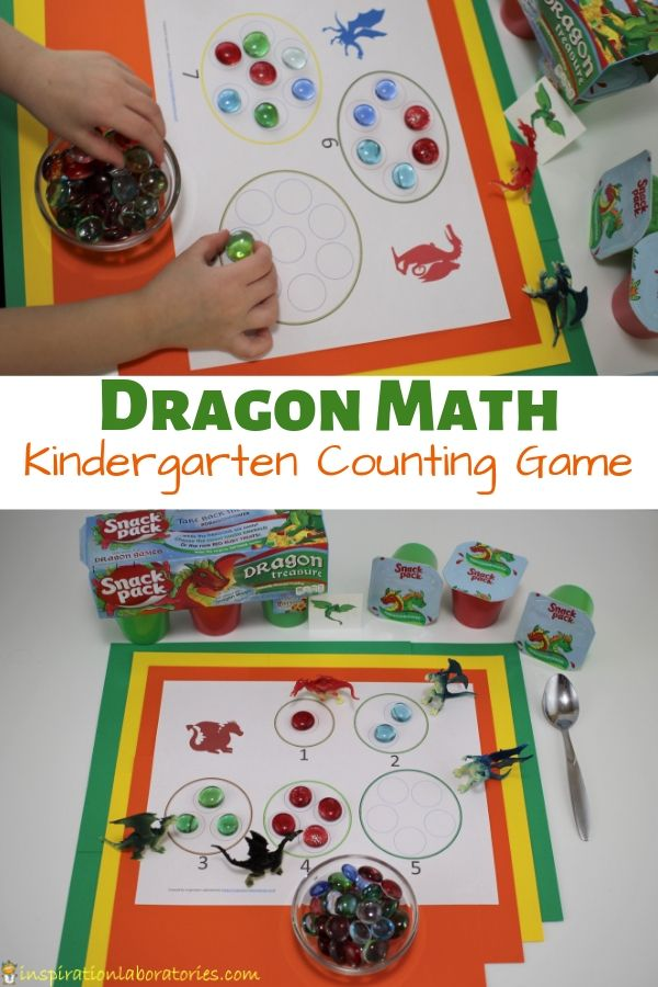 Dragon Math Kindergarten Counting Game Inspiration Laboratories